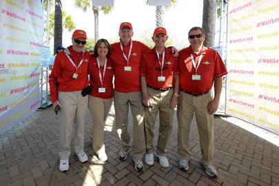 Volunteers at the Family Circle Cup